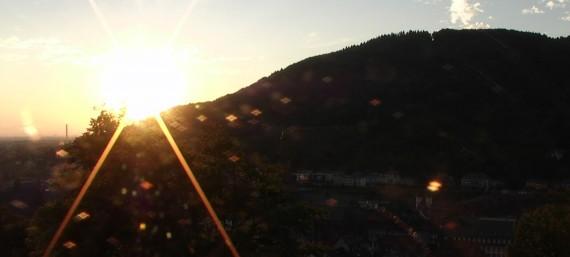 Schwitzen in Heidelberg bei 37 Grad