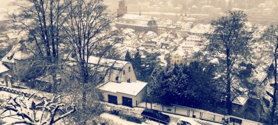 Heidelberg im Schnee
