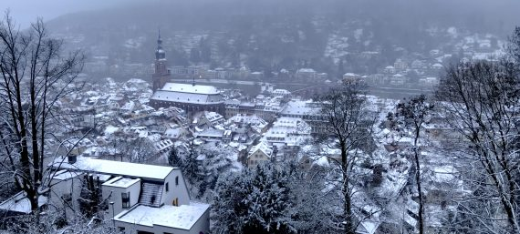 Schnee in Heidelberg