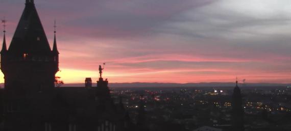 Sonnenuntergang in Heidelberg